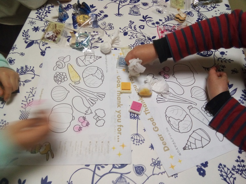 coloring using stamps